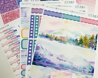 Mountain Escape | A la Carte | Planner stickers for Erin Condren/ Happy Planner/ A5/ Personal etc Planners  (#ws-ME)