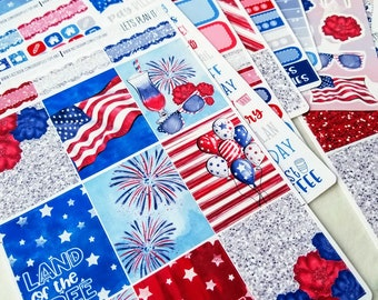 Firework | Vertical weekly kit | Planner stickers for Erin Condren/ Happy Planner/ A5/ Personal etc Planners