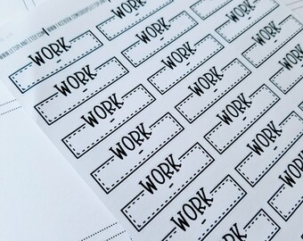 Work schedule labels | monochrome script labels | Planner stickers | Stickers for Planners