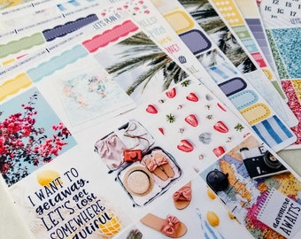 Adventure Awaits | Vertical weekly kit | Planner stickers for Erin Condren/ Happy Planner/ A5/ Personal etc Planners
