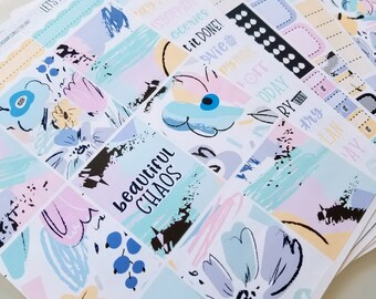 Beautiful Chaos | A la Carte | Planner stickers for Erin Condren/ Happy Planner/ A5/ Personal etc Planners