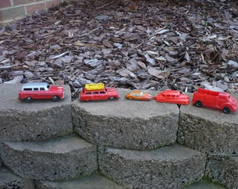 Collection of 5 Vintage Toy Cars