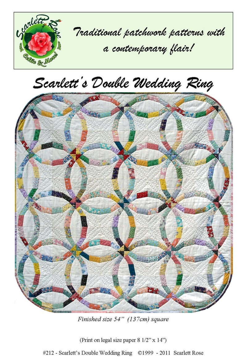 Wedding Ring Quilt Pattern.Scarlett S Double Wedding Ring Paperpieced Quilt Pattern