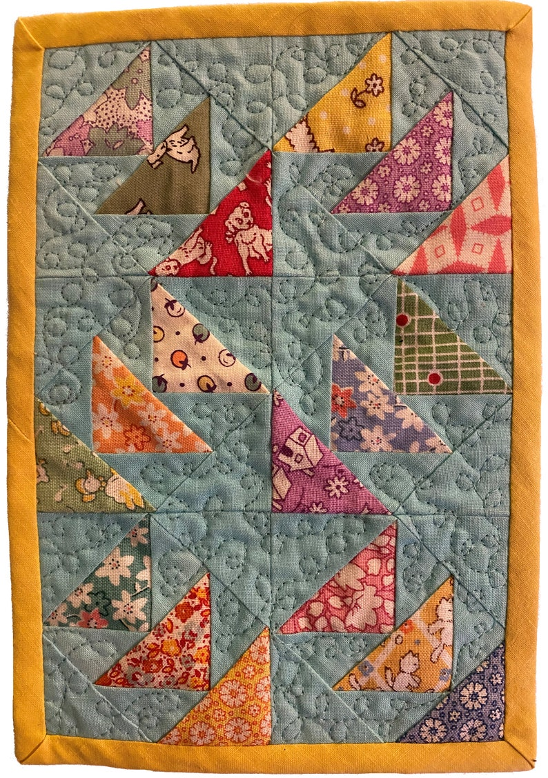 Follow The Wind /& Kitty Cats modern foundation paperpiecing FPP digital pattern