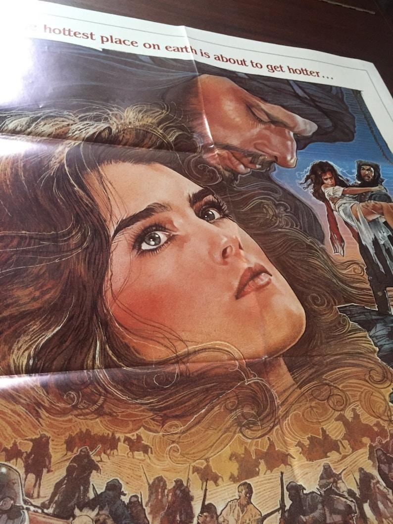 SAHARA Original 1984 Movie Theater Poster Vintage Film Poster for the movie Sahara starring Brooke Shields