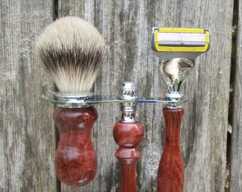 Mens Razor Set Shaving Set with Brush Gift for Men Razor Shaving Kit Brush Razor Shaving Brush Safety Razor Gift for Him