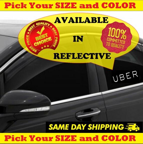 Uber Sticker Decal Sign Vinyl Reflectivenone Reflective For Etsy