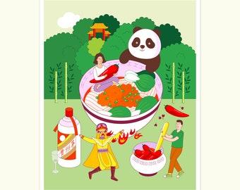 Send Noods Print Series - Dandan Noodle
