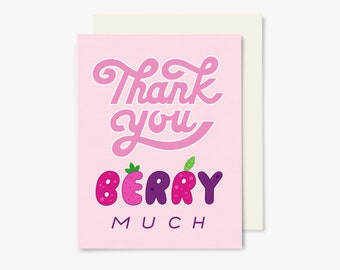 Thank you berry much ! - GC0024 - Greeting Card - Thank you