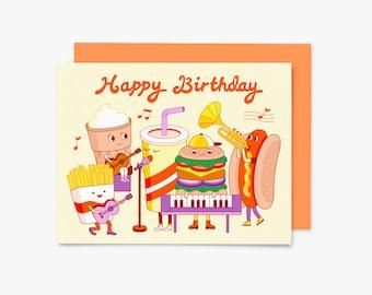 Happy Birthday - Fast Food Band - GC0013 - Greeting Card