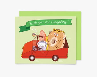 Thank you for everything - Roadtrip - GC0021 - Greeting Card