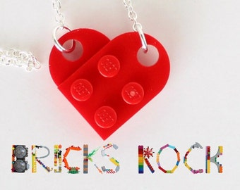 Red Heart Necklace - Jewelry made with LEGO® pieces