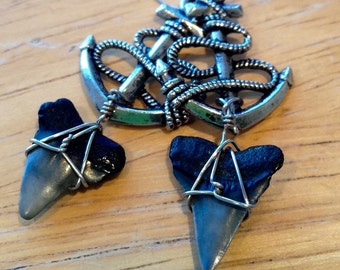 Shark Tooth Anchor Earrings
