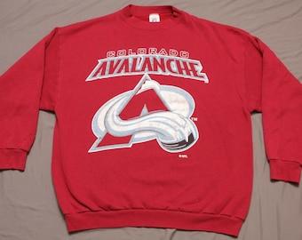 Vintage 90 s Colorado Avalanche Logo 7 Sweatshirt    Size  XL    Made In USA 5da37b9e9