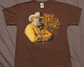 3f492237 Vintage 90's Charlie Daniels Band Size Large T-Shirt concert tour bluegrass  country music band tee fiddle