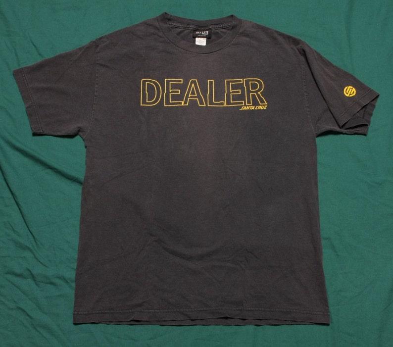 3ec3dfb5 Vintage 90's Santa Cruz Dealer T-Shirt Size Large Skate   Etsy