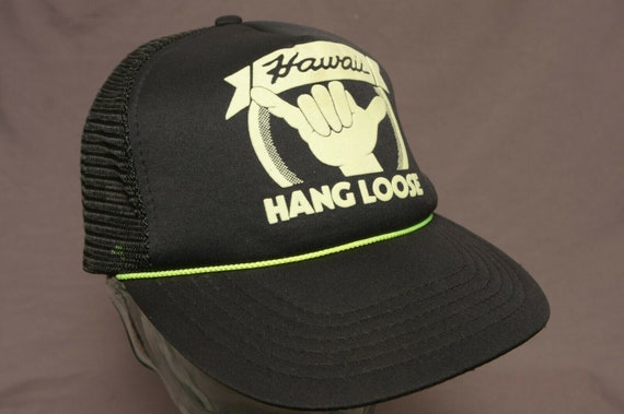 Vintage 80 s Hang Loose Hawaii Snapback Trucker Hat     31787c30f9b