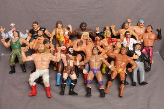 2f144aca0a3dd 23 Vintage 80 s LJN Wrestling Rubber Figure Lot WWF Titan