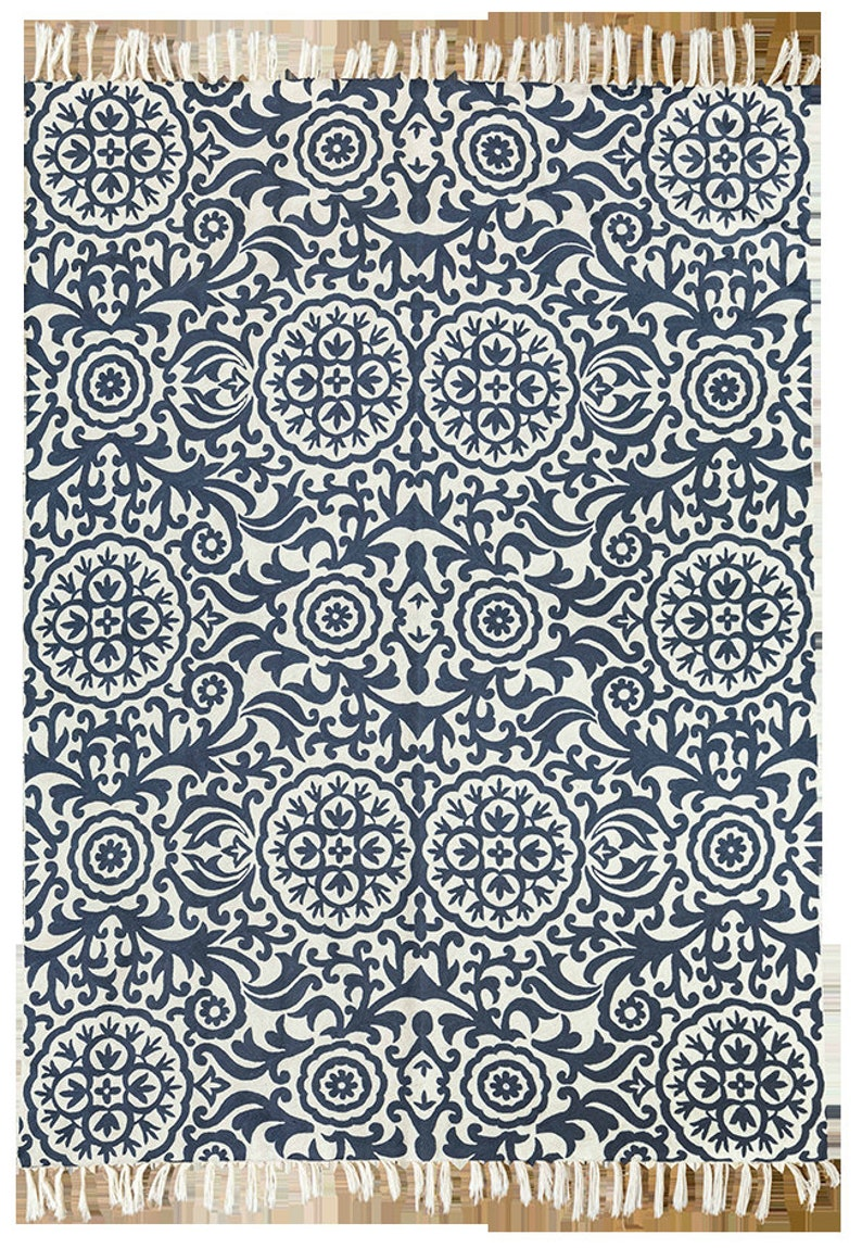5x7 Grey Area Rug White Wool Rug Very Contemporary Rugs Flower Rug