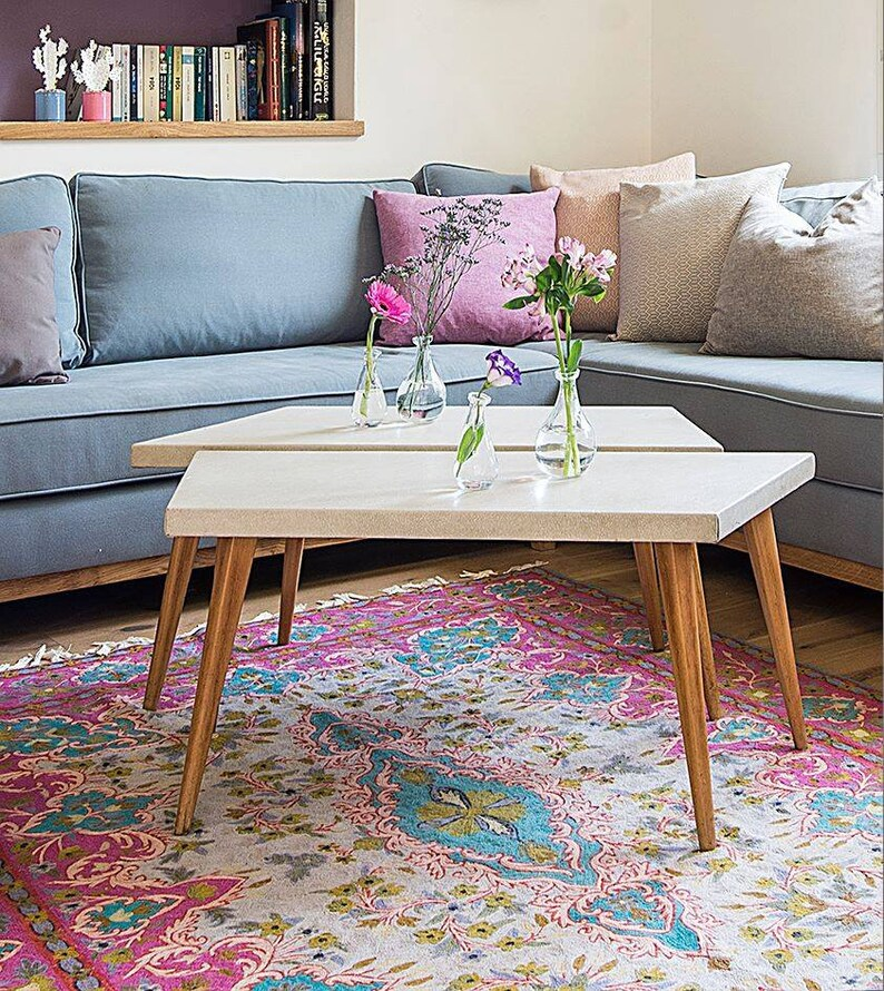 Contemporary 6X9 Pink Rug With Turquoise U0026 Aqua Colors Rug Made Of Wool. A  Striking Living Room Rug Design.