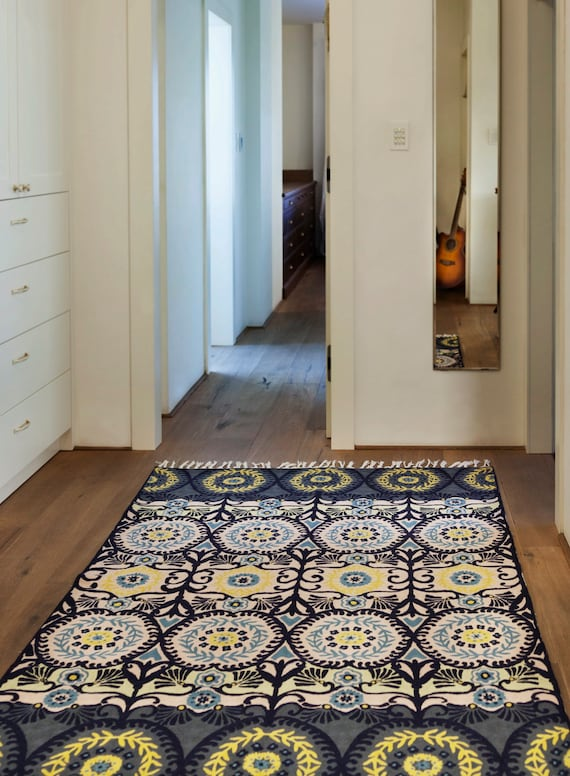 Living Room Rugs 5x7.Modern Blue Rug 5x7 Hand Knotted Wool Rug Living Room Rugs Or As A Bedroom Rug Available As 4x6 Rug And Other Sizes