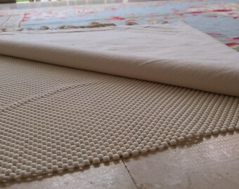 Premium rug pad for comfort, longevity, carpet padding, carpet underlay that keeps the rug in place and prevents slipping or moving