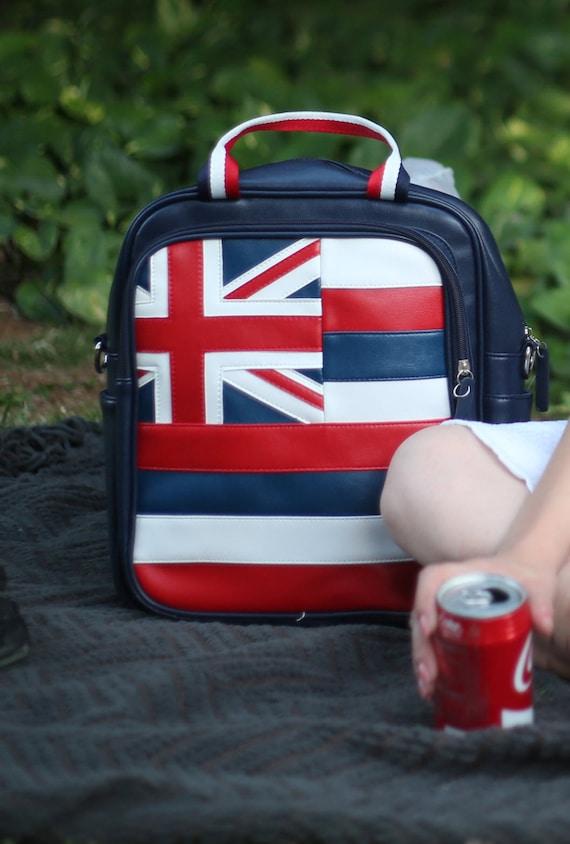 Hawaii Bag Ladies Laptop Bag Hawaii Flag Bag Backpack Union Jack UK Flag Travel Bag  Britain Flag Travel PanAm Macbook 14 Inch Laptop