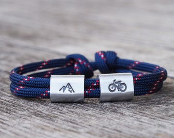 Sporty bracelet man, athlete cyclist and mountaineer, gift for the friend