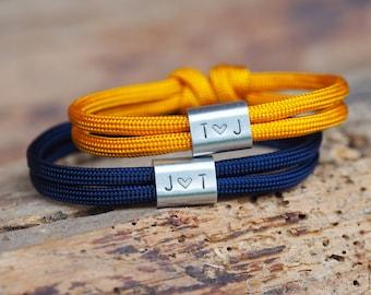 Personalized partner bracelet, gift for the 1st wedding anniversary