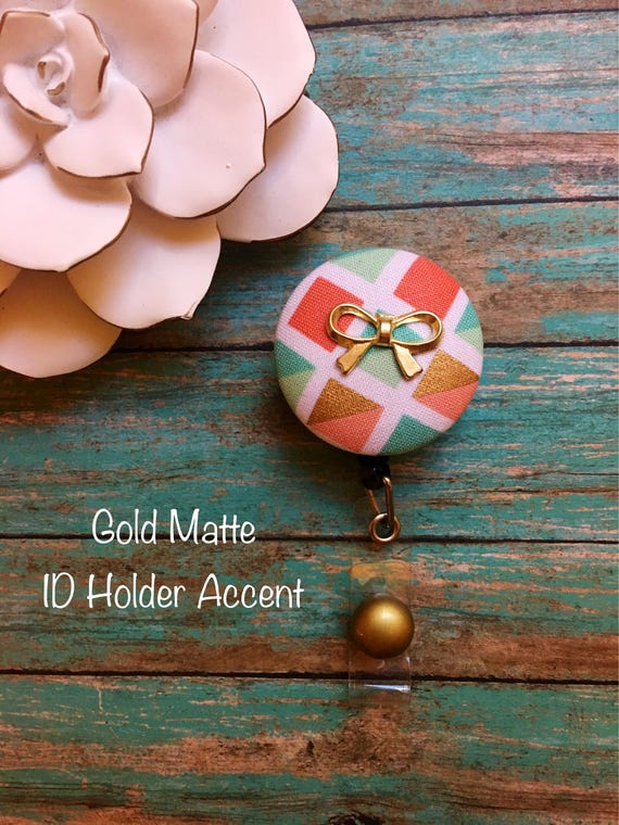 With a Golden Bow On Top -Nurse Retractable ID Badge Reel/ RN Badge  Holder/Doctor Badge Reel/Nurse Badge Holder/Nursing Student Gifts