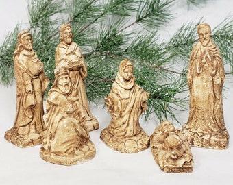 Magi Wise Man Saint Melchior Figurine Chalkware Religious Statuary Nativity Scene Statue Christmas Wise Men King of Persia Parma Japan