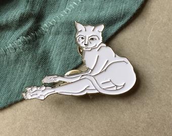 Catlady Enamel Pin