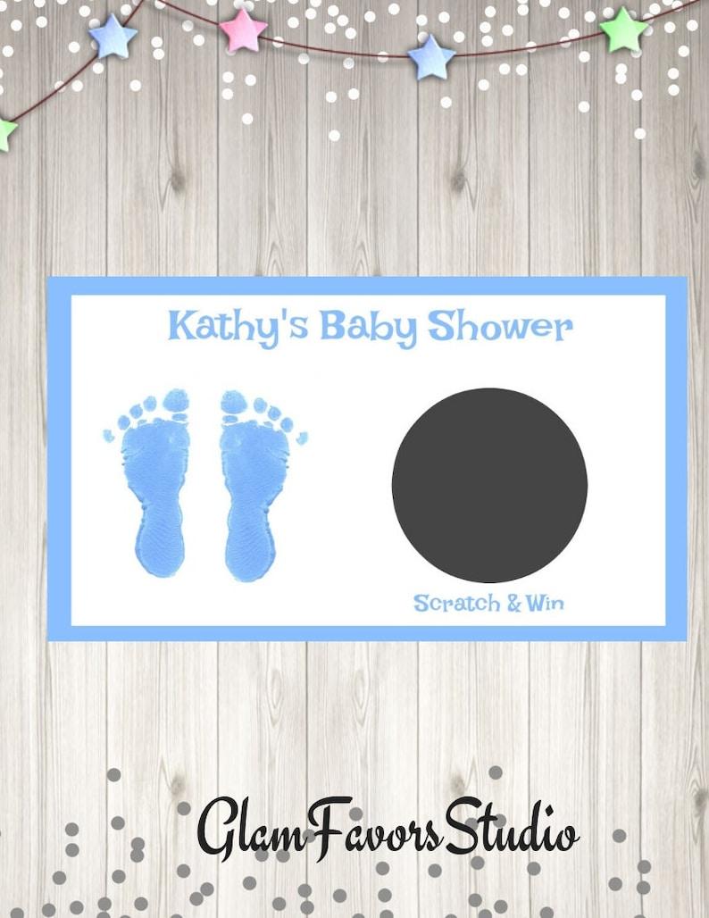 Custom Baby Shower Scratch off Ticket Baby Feet