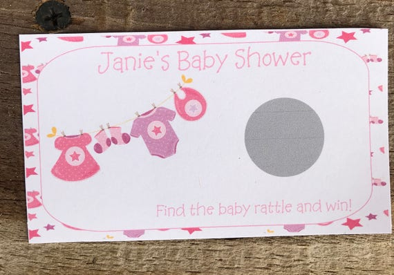 Personalized Baby Shower Scratch Off Ticket Baby Girl Baby Etsy