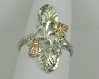 Jewelry & Watches Black Hills Sterling Silver And Gold Brooch C Clasp.