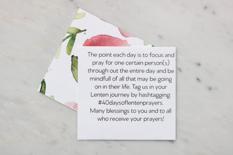 Download 40 Days of Prayers Card Set Lent Activity Catholic Home | Etsy