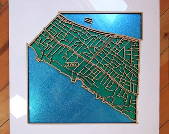 Blairgowrie 3942. VIC. Superb, laser cut wall decoration in MDF and coloured  acrylic.