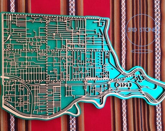 Richmond 3121. Superb, laser cut wall decoration in coloured acrylics.