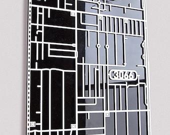 Collingwood, 3066 Victoria. Superb, laser cut suburb map decoration.