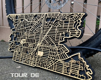 Reservoir 3073, Victoria. Laser cut, street map, wall decoration.