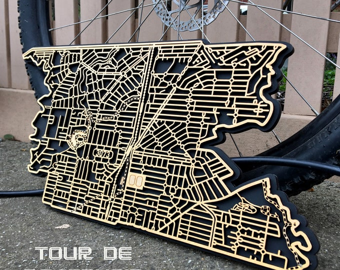 Featured listing image: Reservoir 3073, Victoria. Laser cut, street map, wall decoration.