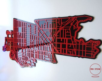 Essendon 3040. Superb, laser cut wall decoration in coloured acrylics.