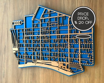 20-33% OFF  laser cut maps of Melbourne CBD 3000
