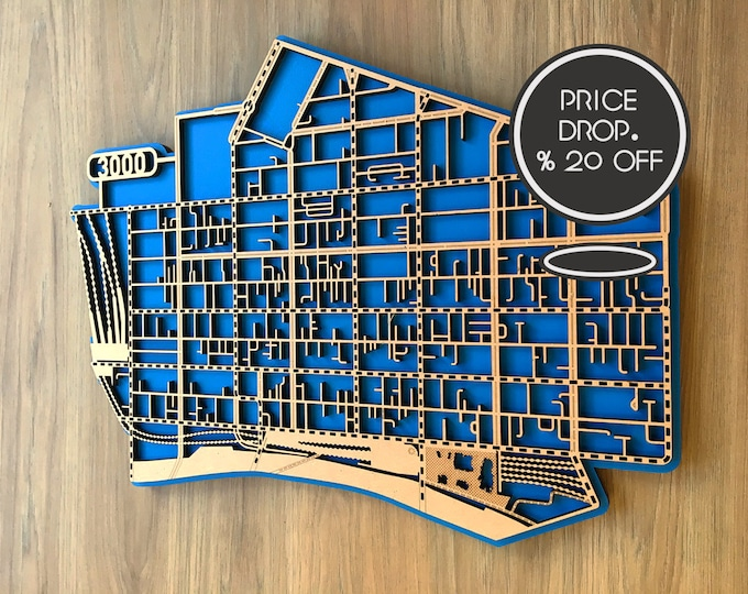 Featured listing image: 20-33% OFF  laser cut maps of Melbourne CBD 3000