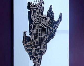 Sydney 2000. NSW. Superb, laser cut wall decoration in MDF and coloured acrylic.