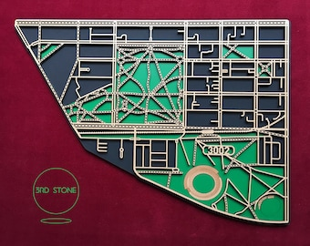 East Melbourne 3002. Superb, laser cut wall decoration.