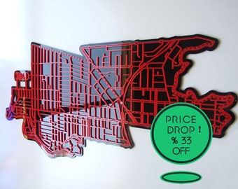 33% OFF !! Essendon 3040. Superb, laser cut wall decoration in coloured acrylics.