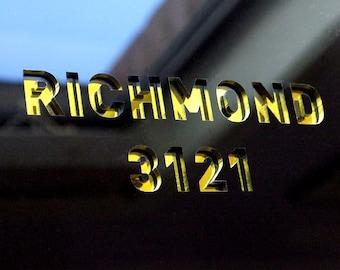 Richmond 3121. Superb, laser cut wall decoration in YELLOW & BLACK!!