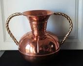 Double Handles French Copper and Brass Jug, Vase, Pot Lecellier Villedieu French vintage French décor Vase Pot en Cuivre