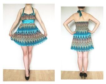 90s babydoll dress blue vintage